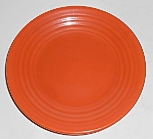 Bauer Pottery Ring Ware Orange Bread Plate