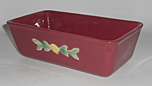 Coors Pottery Rosebud Red Loaf Pan