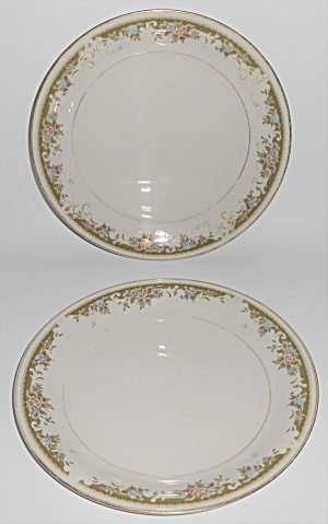Mikasa Fine Ivory China Greendale Pair Salad Plates