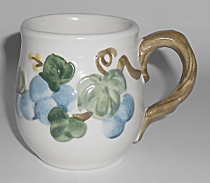 Metlox Pottery Poppy Trail Sculptured Grape Mug