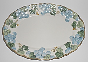Metlox Pottery Poppy Trail Sculptured Grape 12 Platter