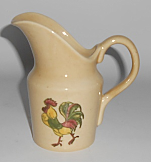 Metlox Pottery Poppy Trail Premium Rooster Creamer (Image1)