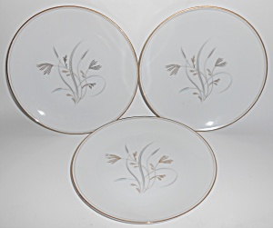 Noritake China Porcelain Laverne Set/3 Salad Plates