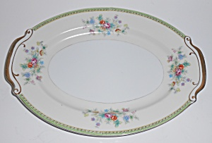Supreme Porcelain China Floral W/gold Platter