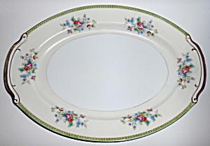 Supreme Porcelain China Floral W/gold Large Platter