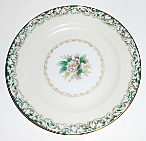 Noritake China White Rose W/gold Mystery 14 Bread Plate