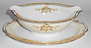 Noritake China Porcelain N3149 Floral W/gold Gravy Bowl