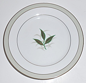 Noritake Porcelain China Greenbay W/gold Bread Plate