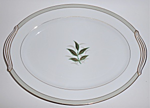 Noritake Porcelain China Greenbay W/gold Large Platter