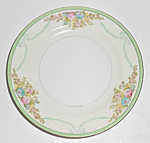 Meito China Porcelain Japan Floral Gold Green Yellow Br