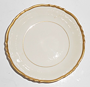 Syracuse China Old Ivory Gold Fluted Fruit Bowl