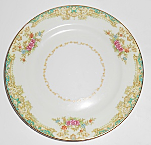 Noritake Porcelain China Floral W/gold Yellow Bread Pl