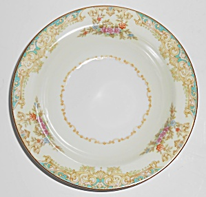 Noritake Porcelain China Floral W/gold Yellow Fruit