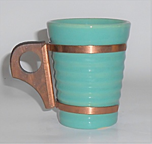 Bauer Pottery Ring Ware Jade 6 Oz Tumbler W/handle