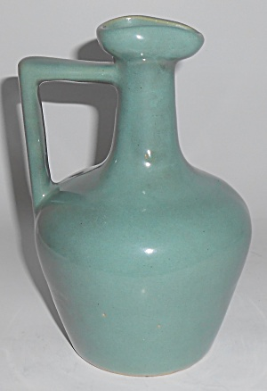 Zanesville Stoneware Pottery Company Seacrest Green Jug (Image1)