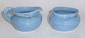 Very Rare Potlatch Pottery Demi Creamer & Sugar Bowl