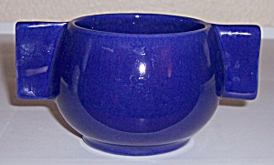 FRANCISCAN POTTERY SPERRY FLOUR COBALT SUGAR BOWL! (Image1)