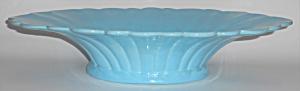 Catalina Island Pottery Large Turquoise Fluted Art Bowl (Image1)