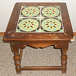 Vintage 1930's California Pottery 4-tile Top Table