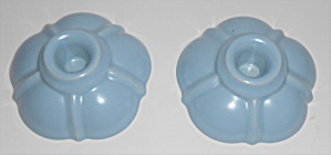 Franciscan Aurora Pottery Pair #c-608 Blue Candlesticks
