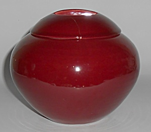 Franciscan Pottery Cielito Art Ware Maroon Covered Vase