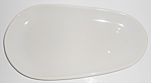 Franciscan Pottery Eclipse White Snack Plate