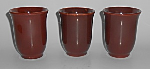 Franciscan Pottery El Patio Redwood Gloss Tumbler  (Image1)