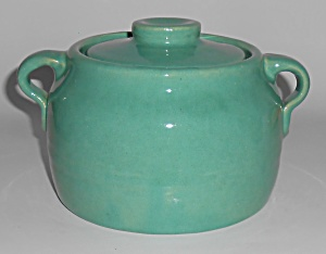 Bauer Pottery Plain Ware Jade 1 Quart Bean Pot W/lid