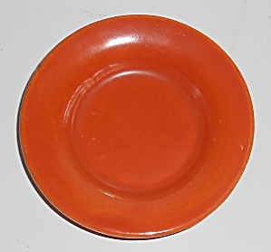 Bauer Pottery Plain Ware Orange Butter Pat