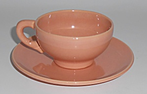 Franciscan Pottery El Patio Gloss Coral Demi Cup/saucer