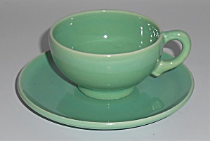 Franciscan Pottery El Patio Apple Green Demi Cup/saucer