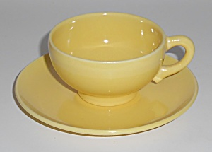 Franciscan Pottery El Patio Gloss Yellow Demi Cup/sau