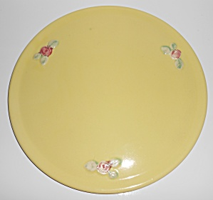 Coors Pottery Rosebud Early Yellow Cake Plate