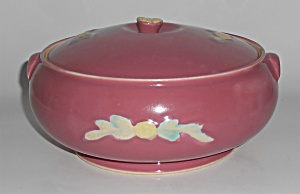 Coors Pottery Rosebud Early Red French Casserole