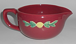 Coors Pottery Rosebud Red Small Handled Batter Bowl