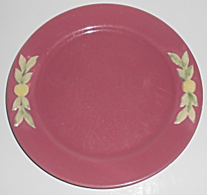 Coors Pottery Rosebud Early Red 9in Plate