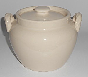 Coors Pottery Rosebud White Utility Jar W/lid