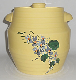 Coors Pottery Yellow Deluxe Pantry Jar