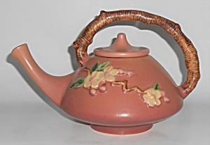 Roseville Art Pottery Rose Apple Blossom Teapot w/Lid (Image1)