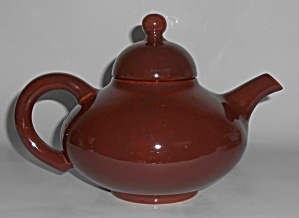 Franciscan Pottery El Patio Redwood Gloss Teapot w/Lid (Image1)