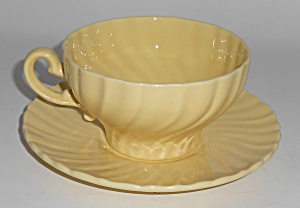 Franciscan Pottery Coronado Gloss Yellow Cup & Saucer