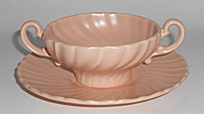 Franciscan Pottery Coronado Satin Coral Cream Soup/sau