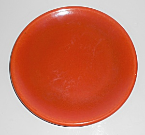 Catalina Island Pottery Toyon Red Rolled Rim Plate (Image1)