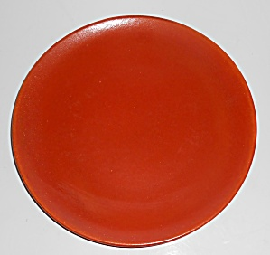 Catalina Island Pottery Early Toyon Red Coupe Salad Pl (Image1)