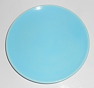Catalina Island Pottery Turquoise Coupe Plate (Image1)
