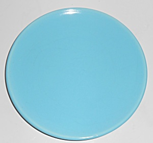 Catalina Island Pottery Turquoise Coupe Plate