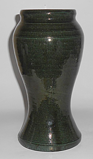 Bauer Pottery Early Matt Carlton Green California Vase