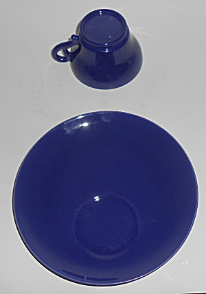 Franciscan Pottery El Patio Cobalt Mexican Blue Snack P (Image1)