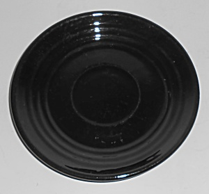 Bauer Pottery Ring Ware Black Saucer (Image1)