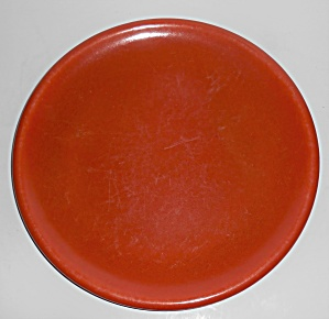 Catalina Island Pottery Toyon Red Rolled Rim Dinner Pl (Image1)